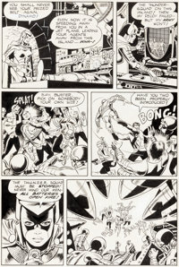 Wally Wood and Dan Adkins T.H.U.N.D.E.R. Agents #1 Story Page 6 Dynamo and the Thunder Squad Original Art (Tower