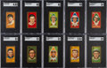 Baseball Cards:Lots, 1911 T205 Gold Border Hall of Famers SGC Graded Collection (10)....