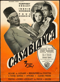 """Casablanca (Warner Bros., 1947). Folded, Fine+. French First Release Pressbook (8 Pages, 9.25"""" X 12.5"""")"""