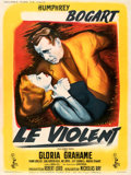 """Movie Posters:Film Noir, In a Lonely Place (Columbia, 1951). Very Fine- on Linen. French Grande (46.75"""" X 62.5"""") Rene Peron Artwork.. ..."""