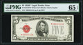 Small Size:Legal Tender Notes, Fr. 1531* $5 1928F Wide II Legal Tender Note. PMG Gem Uncirculated 65 EPQ.. ...