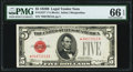 Fr. 1527* $5 1928B Legal Tender Note. PMG Gem Uncirculated 66 EPQ