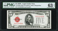 Small Size:Legal Tender Notes, Fr. 1528 $5 1928C Mule Legal Tender Note. G-A Block. PMG Choice Uncirculated 63 EPQ.. ...