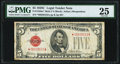 Small Size:Legal Tender Notes, Fr. 1528* $5 1928C Mule Legal Tender Note. PMG Very Fine 25.. ...