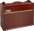 Musical Instruments:Amplifiers, PA, & Effects, 1991 Vox AC-30TB Natural Guitar Amplifier, Serial # 069.. ...