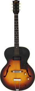 Musical Instruments:Electric Guitars, 1959 Gibson ES 125 T Sunburst Semi-Hollow Body Electric Guitar, Serial # R4577 6.. ...