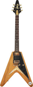 "Musical Instruments:Electric Guitars, Joe Bonamassa's 2016 Echo-Park ""Amos"" Flying V Replica Natural Solid Body Electric Guitar, Serial # Not Amos.. ..."