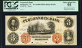 Bridgeport, CT- Pequonnock Bank $3 18__ as G6a Proof PCGS Choice About New 55