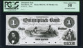 New Haven, CT- Quinnipiack Bank $1 18__ as G22a Proof PCGS Choice About New 58