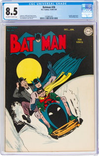 Batman #26 (DC, 1945) CGC VF+ 8.5 Off-white to white pages