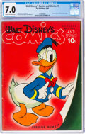 Golden Age (1938-1955):Cartoon Character, Walt Disney's Comics and Stories #1 (Dell, 1940) CGC FN/VF 7.0 Cream to off-white pages....