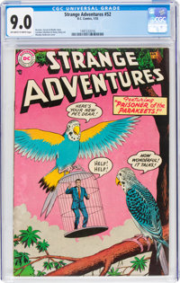 Strange Adventures #52 (DC, 1955) CGC VF/NM 9.0 Off-white to white pages