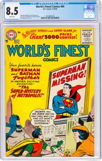 World's Finest Comics #84 (DC, 1956) CGC VF+ 8.5 White pages