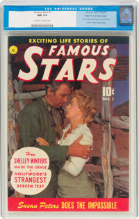 Famous Stars #1 Mile High Pedigree (Ziff-Davis, 1950) CGC NM 9.4 Off-white to white pages