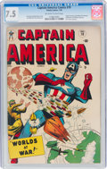 Golden Age (1938-1955):Superhero, Captain America Comics #70 (Timely, 1949) CGC VF- 7.5 Off-white to white pages....
