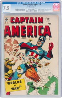 Captain America Comics #70 (Timely, 1949) CGC VF- 7.5 Off-white to white pages