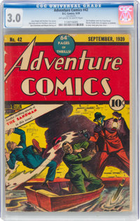 Adventure Comics #42 (DC, 1939) CGC GD/VG 3.0 Off-white to white pages