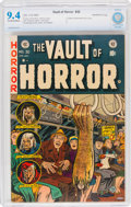 Golden Age (1938-1955):Horror, Vault of Horror #30 Northford Pedigree (EC, 1953) CBCS NM 9.4 Off-white to white pages....