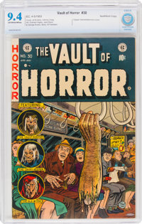 Vault of Horror #30 Northford Pedigree (EC, 1953) CBCS NM 9.4 Off-white to white pages