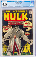 Silver Age (1956-1969):Superhero, The Incredible Hulk #1 (Marvel, 1962) CGC VG+ 4.5 Off-whit...