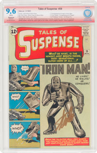 Tales of Suspense #39 Signature Series - Stan Lee (Marvel, 1963) CBCS Restored NM+ 9.6 Extensive (P) White pages