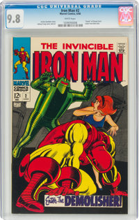 Iron Man #2 (Marvel, 1968) CGC NM/MT 9.8 White pages