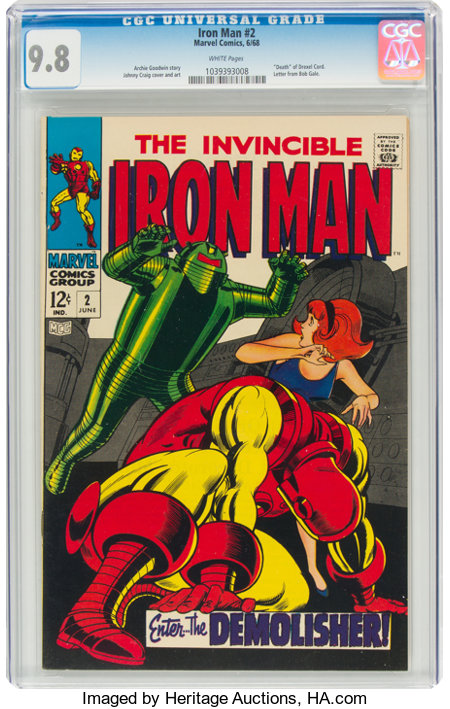 Iron Man #2 (Marvel, 1968) CGC NM/MT 9.8 White pages....