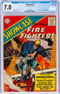 Silver Age (1956-1969):Adventure, Showcase #1 Fire Fighters (DC, 1956) CGC FN/VF 7.0 Cream to off-white pages....