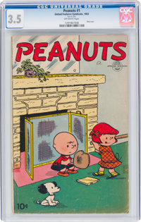 Peanuts #1 (United Feature Syndicate, 1953) CGC VG- 3.5 Off-white pages