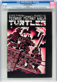 Teenage Mutant Ninja Turtles #1 (Mirage Studios, 1984) CGC VF- 7.5 White pages