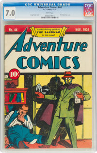 Adventure Comics #44 (DC, 1939) CGC FN/VF 7.0 White pages