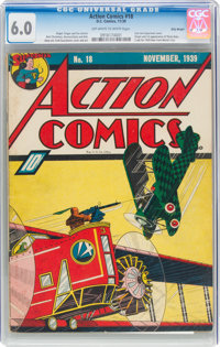 Action Comics #18 Billy Wright Pedigree (DC, 1939) CGC FN 6.0 Off-white to white pages