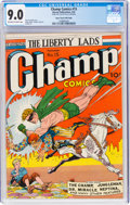 Golden Age (1938-1955):Superhero, Champ Comics #15 Mile High Pedigree (Harvey, 1941) CGC VF/NM 9.0 Off-white to white pages....