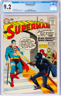 Superman #124 (DC, 1958) CGC NM- 9.2 Off-white to white pages