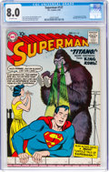 Silver Age (1956-1969):Superhero, Superman #127 (DC, 1959) CGC VF 8.0 Off-white pages.
