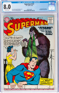 Superman #127 (DC, 1959) CGC VF 8.0 Off-white pages