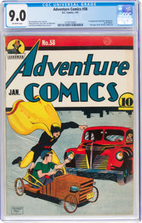 Adventure Comics #58 (DC, 1941) CGC VF/NM 9.0 Off-white pages