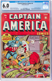 Captain America Comics #4 (Timely, 1941) CGC FN 6.0 Cream to off-white pages