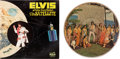 Music Memorabilia:Recordings, Elvis Presley Aloha From Hawaii Via Satellite Double Album With Rare Picture Disc (RCA, 1973). ...