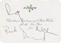 Music Memorabilia:Autographs and Signed Items, Pink Floyd Signed Christmas Card. ...