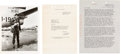 Movie/TV Memorabilia:Autographs and Signed Items, John Wayne Typed Letter to Howard Hughes Signed by Wayne (1954)....