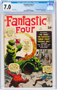 Fantastic Four #1 (Marvel, 1961) CGC FN/VF 7.0 Cream to off-white pages