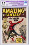 Silver Age (1956-1969):Superhero, Amazing Fantasy #15 Trimmed (Marvel, 1962) CGC Apparent GD...