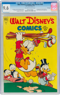 Walt Disney's Comics and Stories #140 File Copy (Dell, 1952) CGC NM+ 9.6 Off-white to white pages