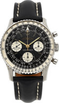 Timepieces:Wristwatch, Breitling, Ref: 806 Navitimer, AOPA Dial, Stainless Steel, Circa 1960's. ...