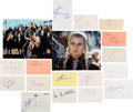 Movie/TV Memorabilia:Autographs and Signed Items, The Lord of the Rings Cast Various Autographs (18). ...