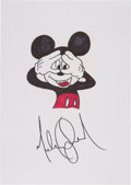 Music Memorabilia:Autographs and Signed Items, Michael Jackson Signed Sketch and Letter (1993)....