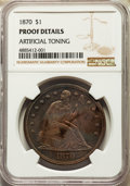 Proof Seated Dollars, 1870 $1 -- Artificial Toning -- NGC Details. Proof. Mintage 1,000....