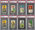 Baseball Cards:Lots, 1909-11 T206 Piedmont & Sweet Caporal PSA EX-MT 6 Collection (8)....