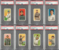 Baseball Cards:Lots, 1909-11 T206 Piedmont & Sweet Caporal PSA EX+ 5.5 Collection (8)....